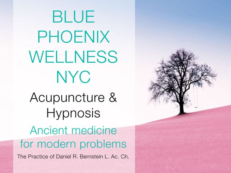 Screenshot of home page image from Blue Phoenix Wellness