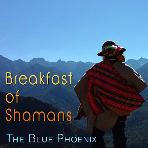 cover image for Breakfast of Shamans with Peruvian man looking out over mountains