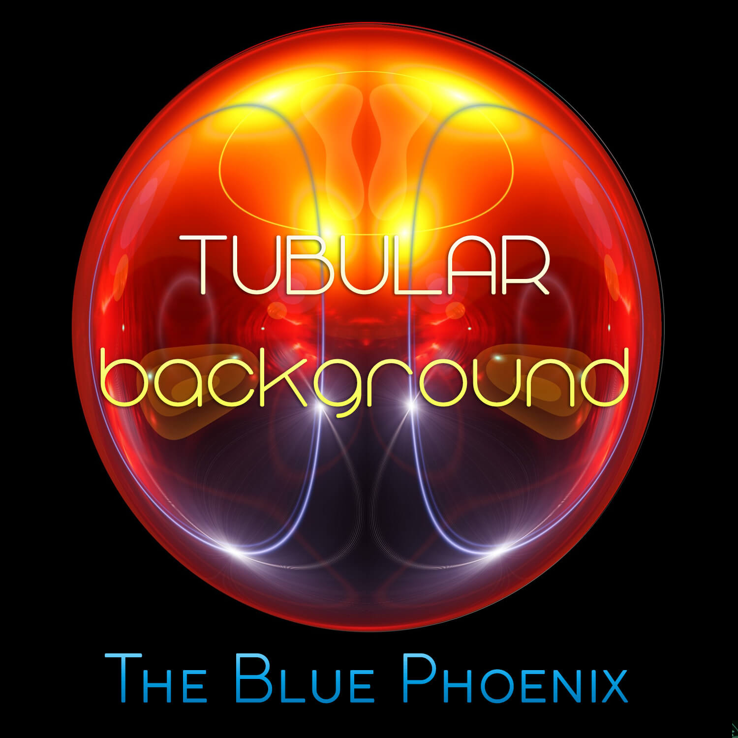 Abstract image of luminous orb as cover image for Blue Phoenix album Tubular Background