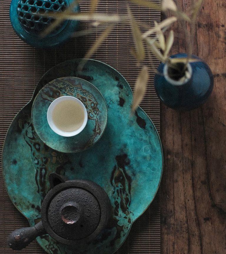 chinese tea set arrangement