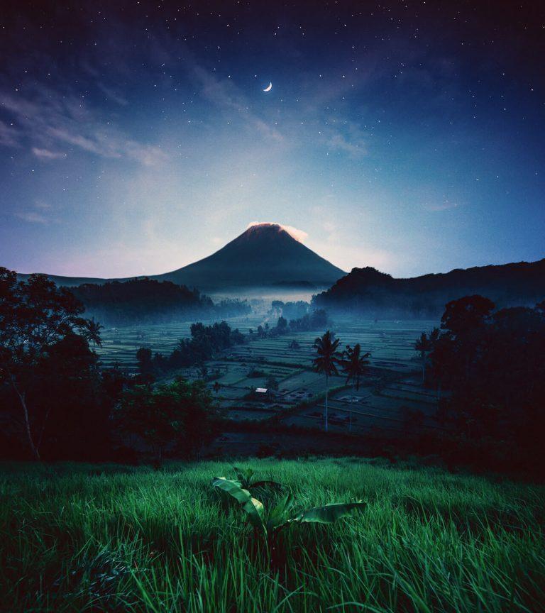 mountain at twilight