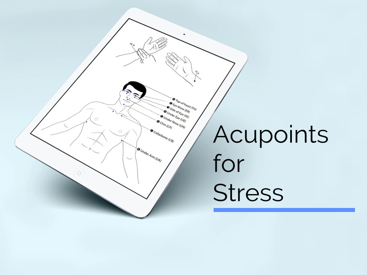 acupuncture points for stress header image