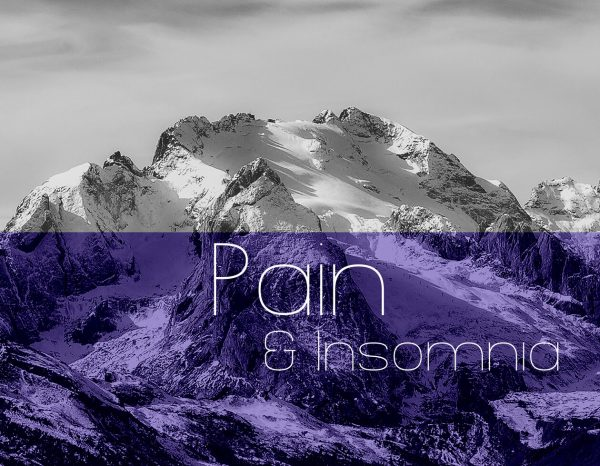 mountain background to Pain category header